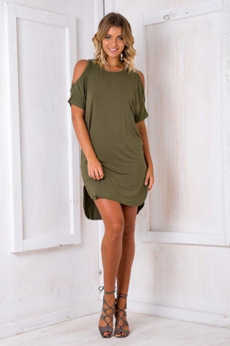 Veronica Dress - Khaki