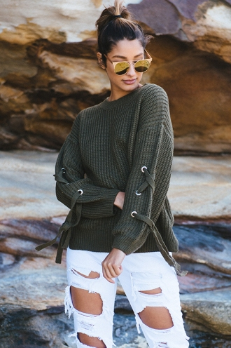 Lazy Days Jumper - Khaki