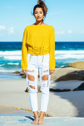 Midsummer Nights Jumper - Mustard