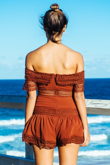 Trinity playsuit - Brown