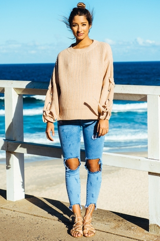 Lazy Days Jumper - Beige