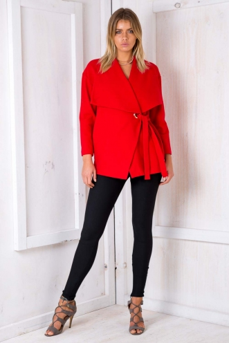Walking On Sunshine Coat - Red