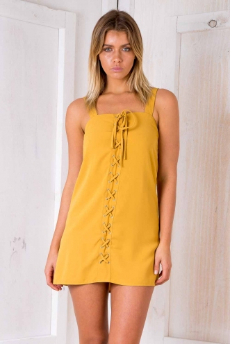 Tower Of Power Dress - Mustard