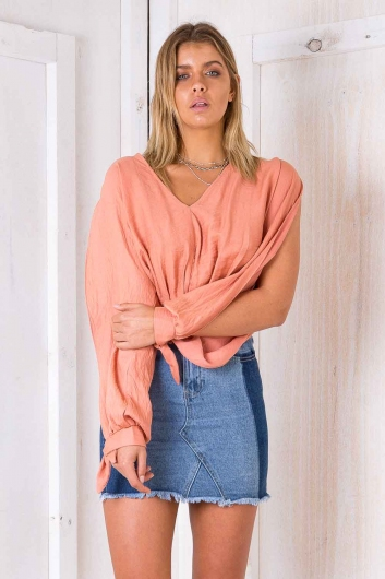 Taylah Top - Orange