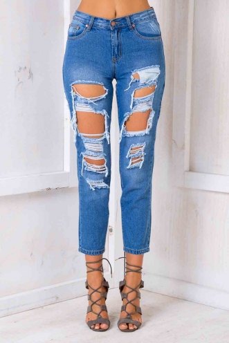 Drifting Jeans - Blue Denim-SALE