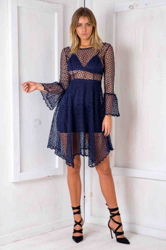 What's Underneath Dress - Navy