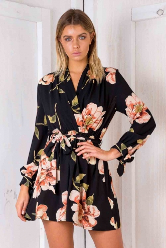 Tamazin dress - Black Floral