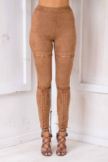 Centre Of Attention Pants - Tan