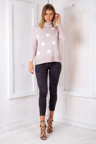 Billie Jean Jumper - Blush Polka Dots