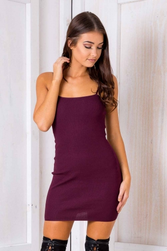 Gemini Dress - Maroon