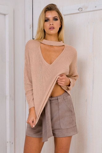 Brooklyn knit jumper - Toffee Beige