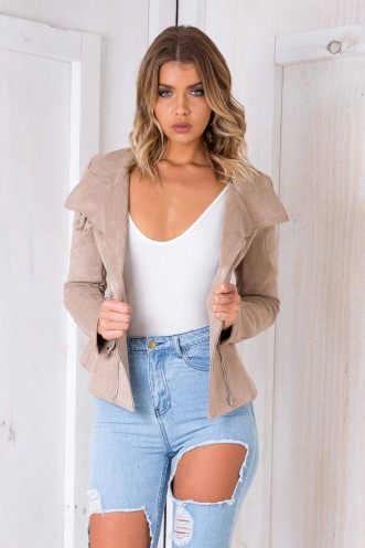 My World Suede Jacket - Beige