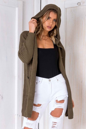 Limelight Cardigan - Khaki