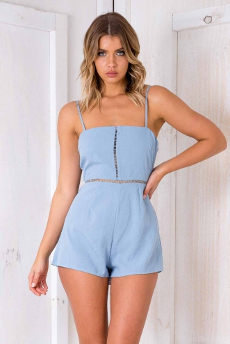 Candy Land Playsuit - Blue