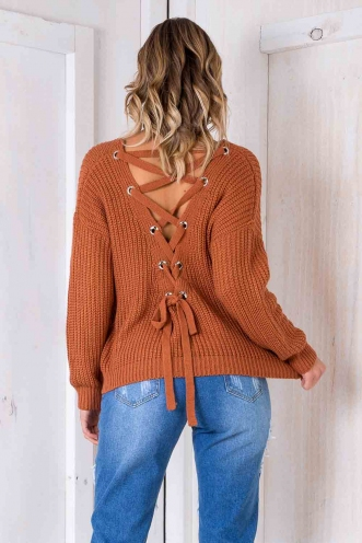 Build Me Up Jumper - Terracotta