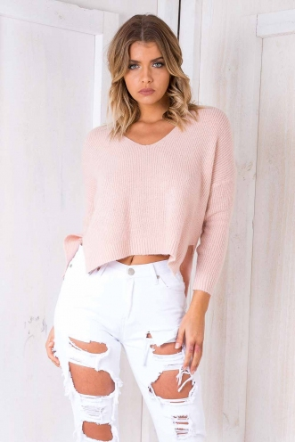 Strawberry kisses Jumper - Pink
