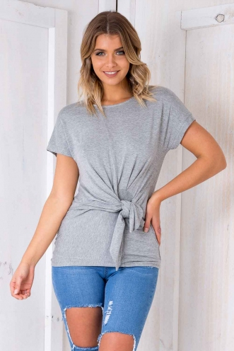 Miles High Knot Top - Grey