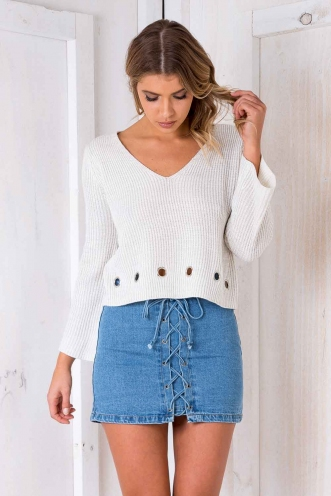 Ring Me Jumper - Cream