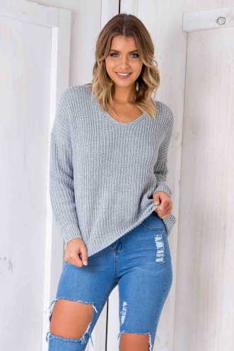 Build Me Up Jumper - Grey