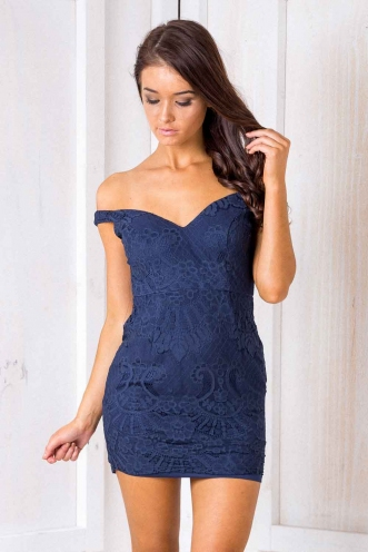 Once Again Dress - Blue Lace