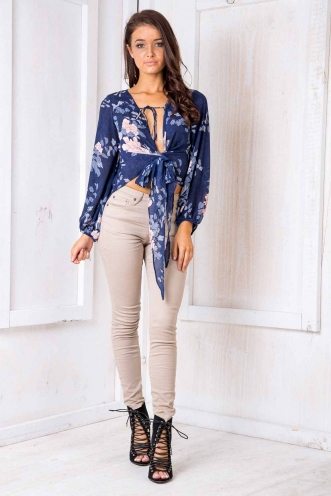Don't Stop Dancing Top - Blue Floral