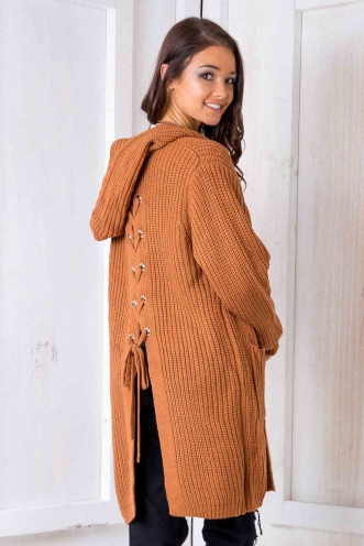 Limelight Cardigan - Terracotta
