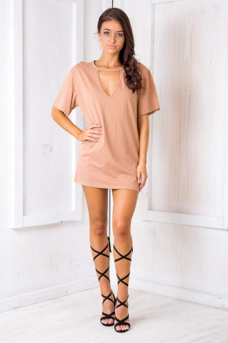 Shanghai Oversized Dress - Beige