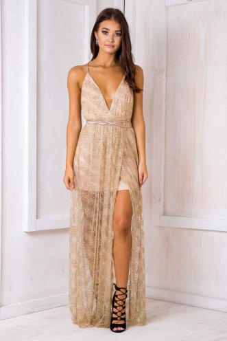 Laila dress - Gold sequin