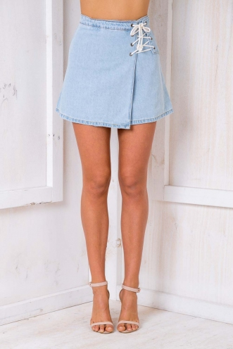 Seven Wonders Skirt - Blue Denim