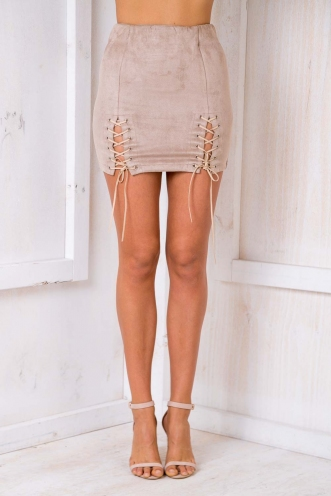 Or Go Home Skirt - Beige