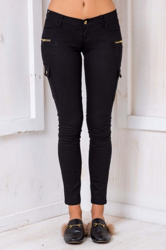 Crunch Apple Slice Womens Skinny Jeans-Black