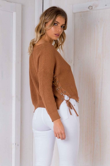 Kiss Me Goodnight Knit - Brown