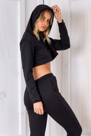 Irreplaceable Crop Jumper - Black