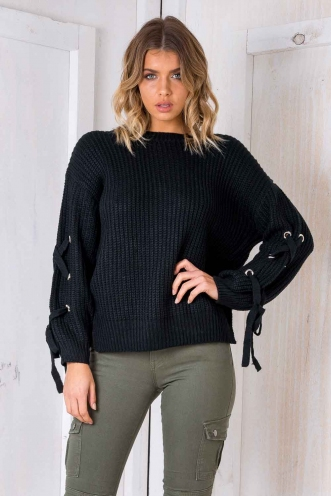Lazy Days Jumper - Black