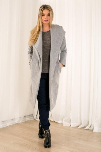 Sugar Cinnamon Cashews Womens Coat - Grey
