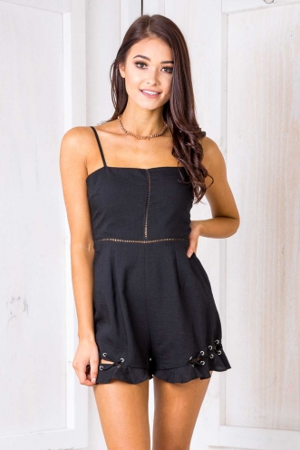 Ohio Playsuit -Black-SALE