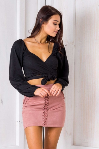 Beverly Hills Skirt- Dusty Pink