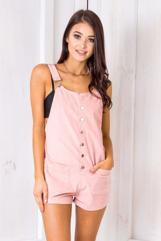 Kristy Overalls- Pink