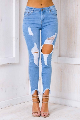 Ramona Jeans- Light Blue Denim