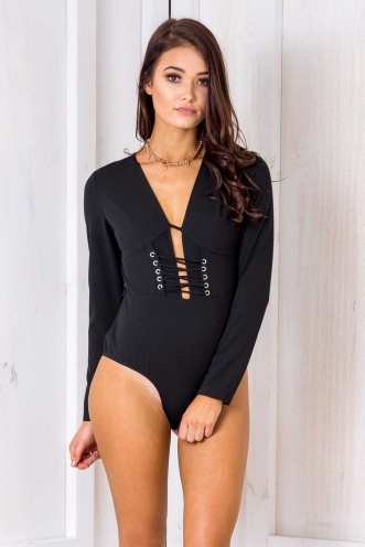 Alpine Bodysuit- Black