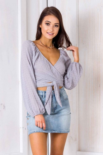 Summertime Madness Top - Grey