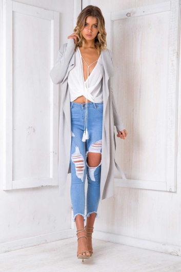 Slow Dance Cardigan - Grey