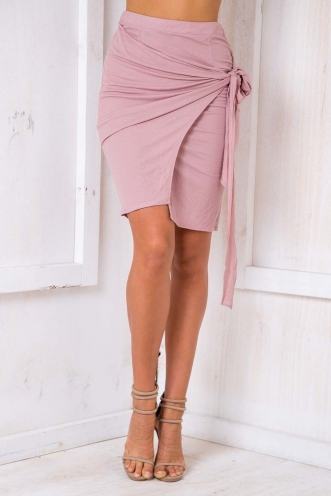 Embrace It Skirt- Dusty Pink