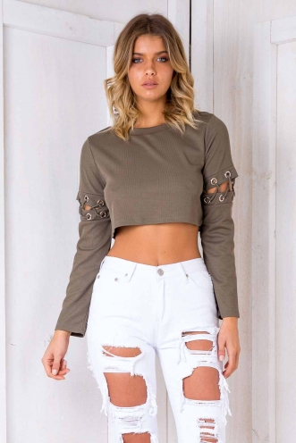 Emiliah Top- Khaki SALE