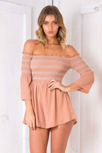 Look Of Love Playsuit- Beige