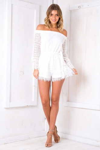 Something About You Playsuit- White