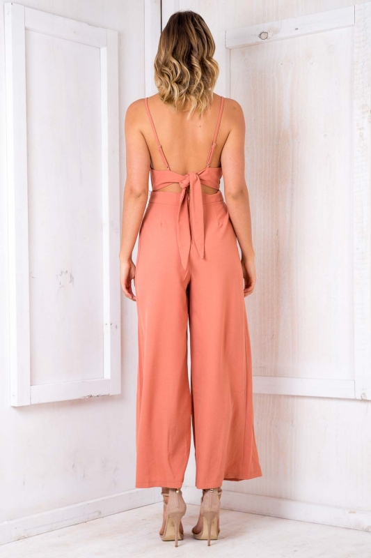 888278a7f25 Mojito Jumpsuit - Burnt Orange-SALE - Stelly