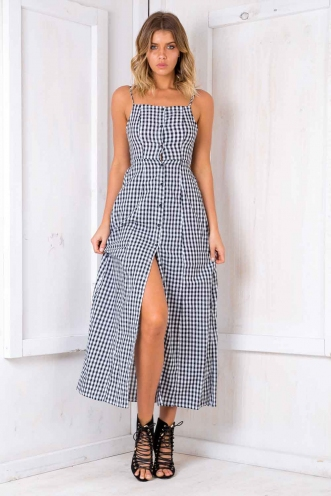 Check Mate Dress - Checkered