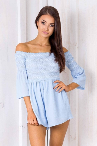 Look Of Love Playsuit - Blue