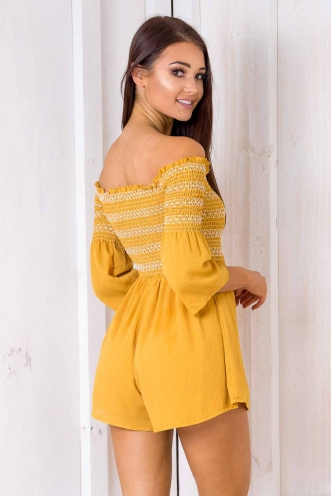 Look Of Love Playsuit - Yellow